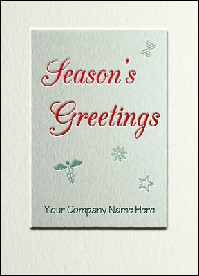 Christmas Card For Medicine (Glossy White)