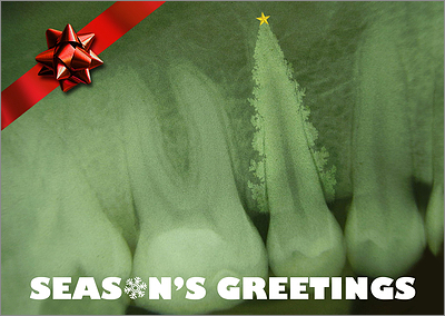 Dental X-Ray Christmas Card (Glossy White)