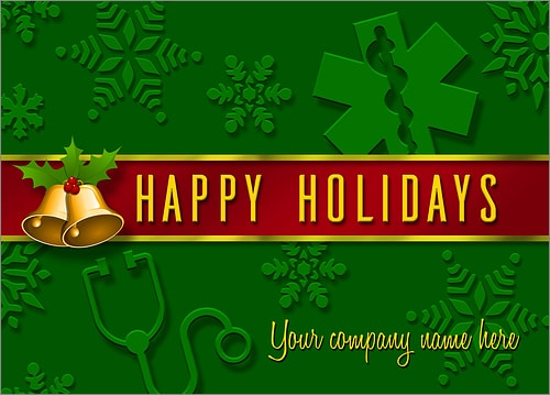 Personalized Business Christmas Cards.Physician Christmas Cards Personalized For Your Business