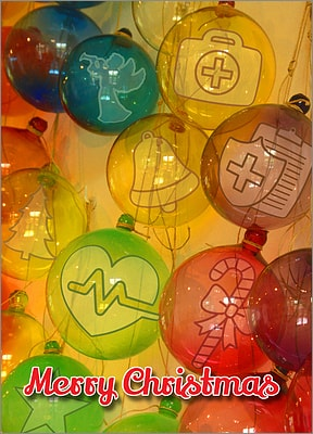 Medical Glass Ornaments (Glossy White)