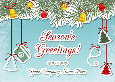 Doctors Ornaments Christmas Card (Glossy White)  Christmas Cards Sample