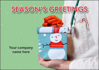 Doctors Present Christmas Card (Glossy White)