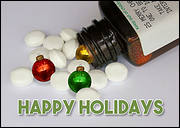 Ornament Pills Christmas Card