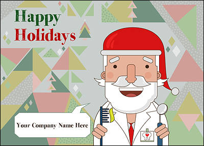 Santa Dentists Christmas Card (Glossy White)